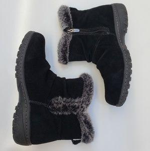 Khombu boots all weather suede fur comfort 8